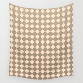 Earthtone square grid pattern Wall Tapestry