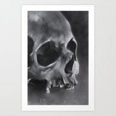 Black and White Skull Art Print