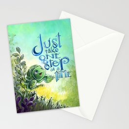 Just take one step at a time Stationery Cards