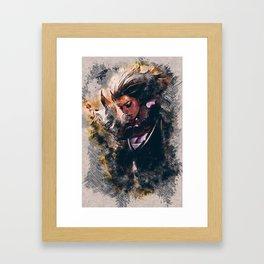 BLOOD MOON DIANA - League of Legends Framed Art Print