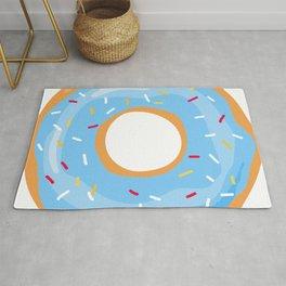 blue icing glaze sprinkle donut Rug