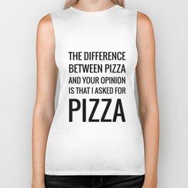 Pizza, gimme P I Z Z A Biker Tank