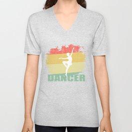 Vintage Dancer T Shirt Unisex V-Neck