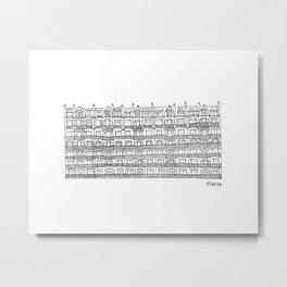 Paris Row Houses Metal Print