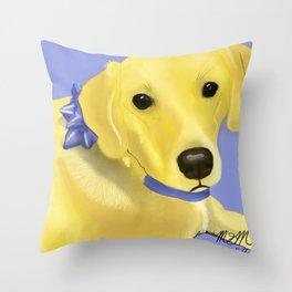 Warholesque Dog Throw Pillow