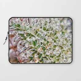 Skywalker OG Kush Strain Frosty Buds Calyxes Trichomes Close Up View Laptop Sleeve