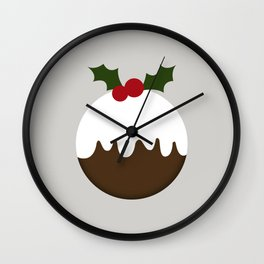Little Christmas Puddings Wall Clock