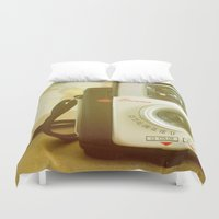 photographer Duvet Covers featuring Travel Photographer by Melissa Lund