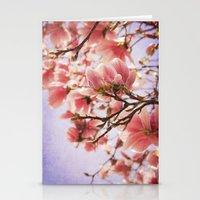 magnolia Stationery Cards featuring Magnolia  by KunstFabrik_StaticMovement Manu Jobst