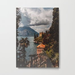 Varenna Lanscape Como Lake Metal Print