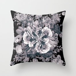Moody Blooms Throw Pillow
