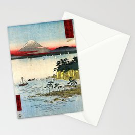 Hiroshige - 36 Views of Mount Fuji (1858) - 17: The Sea off the Miura Peninsula in Sagami Province Stationery Cards