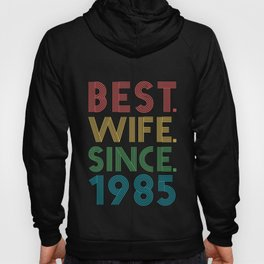Best. Wife. Since. 1985 34th Wedding Anniversary for Her Hoody