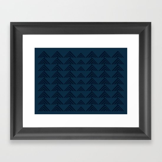 Tan Triangles Print Framed Art Print