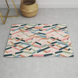 Straight Geometry Ribbons 1 Rug