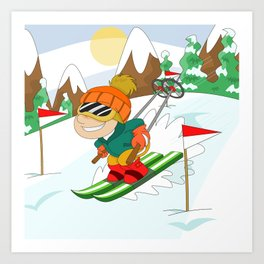 Winter Sports: Skiing Art Print