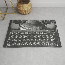 Vintage Typewriter - Before Email Rug