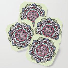 Flowers mandala #38 Coaster