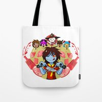 cooking Tote Bags featuring Cooking Che by marvelousghost