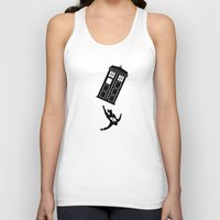 mad men Tank Tops featuring Doctor Who - Mad Men by bosphorus
