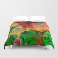 chaos Duvet Covers featuring Chaos by Ray Cowie