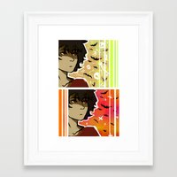 nico di angelo Framed Art Prints featuring spooky nico by JASE