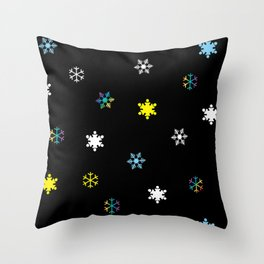 Snowflakes_C Throw Pillow