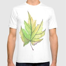 Maple Leaf  MEDIUM Mens Fitted Tee White