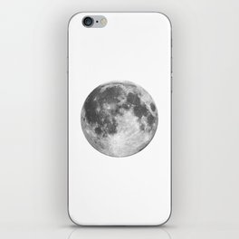 Full Moon phase print black-white monochrome new lunar eclipse poster home bedroom wall decor iPhone Skin