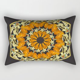 Kaleidoscope of butterflies and flowers Rectangular Pillow