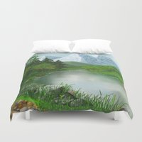 river Duvet Covers featuring River by Turul