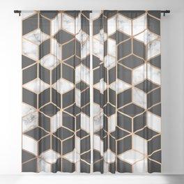 Marble & Geometry 005 Sheer Curtain