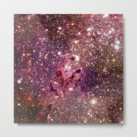 Galaxy : Eagle Nebula Mauve Burgundy Purple Gold Metal Print