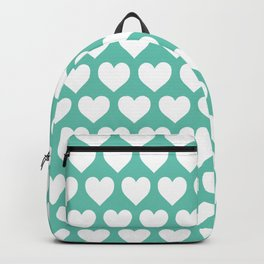Hearts Pattern | Turquoise  Backpack