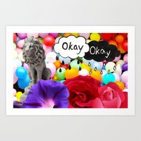 okay Art Prints featuring okay... by Aldo Couture