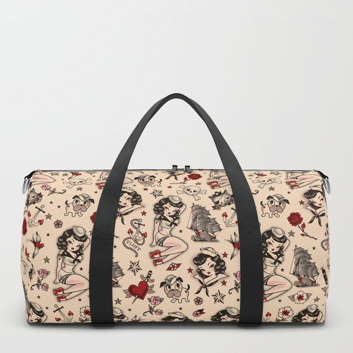 Suzy Sailor Pattern Duffle Bag