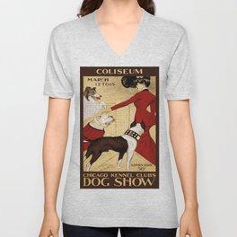 Vintage poster - Chicago Kennel Club's Dog Show Unisex V-Neck