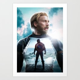 CaptainAmerica (A Hero's End) Art Print