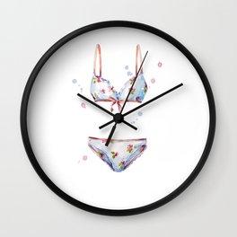 watercolor lingerie Wall Clock