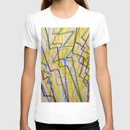 Yellow Blue Lightning Flash T-shirt