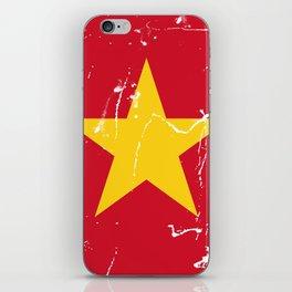 Vietnam Flag with Grunge effect iPhone Skin