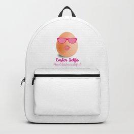 Bald is beautiful Easter Selfie Backpack
