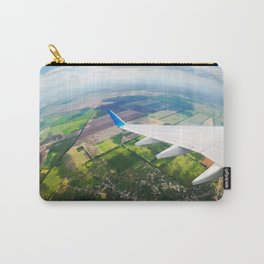 View through airplane porthole  Carry-All Pouch