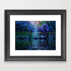 Beneath true light the magic shows and sighs quite softly as it grows Framed Art Print