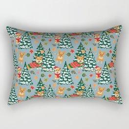 Merry Corgmess Rectangular Pillow