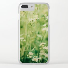 Dreams of Summer Flowers Clear iPhone Case