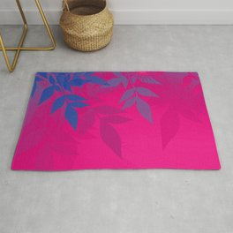 Bisexual Pride Soft Radiance Through Leafy Branches Rug