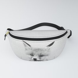 Baby Fox - Black & White Fanny Pack