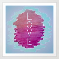 xoxo Art Prints featuring XOXO by Samantha Reichert