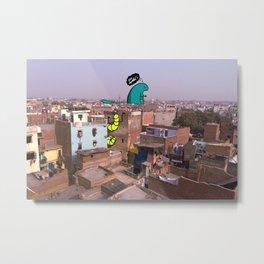 Monsters of Delhi - Stalker and a Hottee Metal Print
